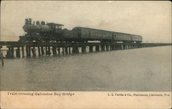 Train Crossing Galveston Bay Bridge