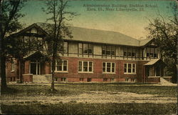 Administration Building, Sheldon School, Eara Postcard