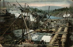 View of the Main Dam of the New York City Water Supply, Brown's Station in the Catskills