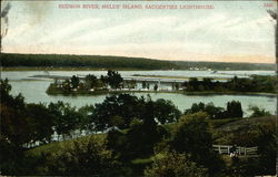 Hudson River, Melus' Island, Saugerties Lighthouse