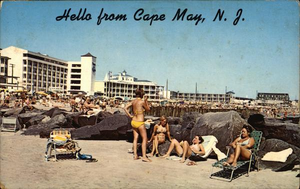 Beach and Hotels Cape May New Jersey