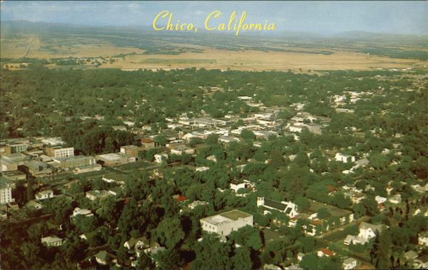Aerial View of Town Chico California