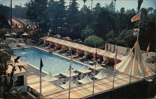 Beverly Hills Hotel - Pool Area California