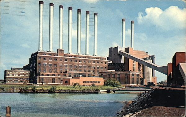 Conners Creek Power Plant - The Seven Sisters and Two Brothers Detroit Michigan