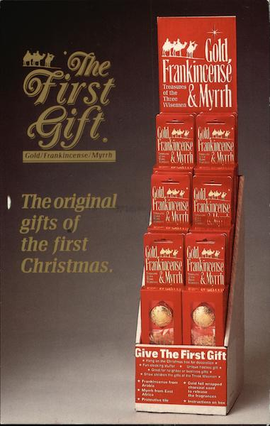 The First Gift - Gold, Frankincense and Myrrh Advertising