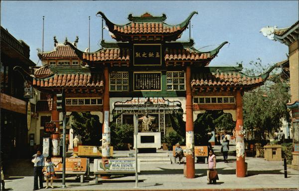 Entrance to Chinatown Los Angeles California