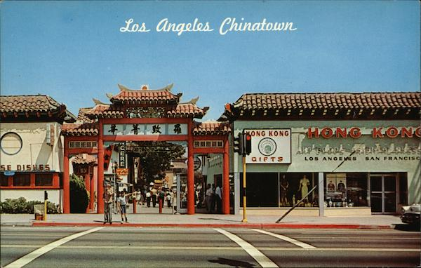 Gateway to Chinatown Los Angeles California