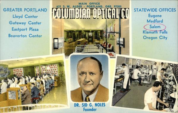 Columbian Optical Co Salem Oregon