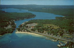 Air View of Weirs Beach and Paugus Bay
