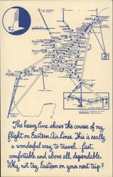 Map of Eastern Air Lines Routes