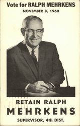 Vote for Ralph Mehrkens, November 8, 1960
