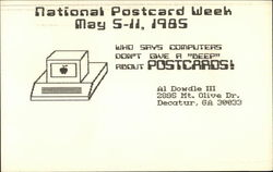National Postcard Week, May 5-11, 1985 Postcard