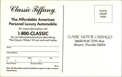 Classic Motor Carriages - Classic Tiffany