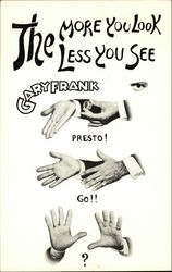 Gary Frank, Magician - Entertainer Postcard