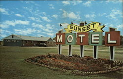 Sunset Motel Postcard