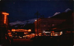 Ketchikan, Alaska Night Scene