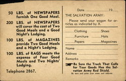 The Salvation Army Social Service Dept. for Waste Paper and Clothing
