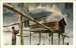 Traditional Alaskan Fish-Curing Postcard