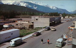 Start of Haines Cutoff to the Alaskan Highway Postcard