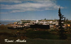 Boat Harbor and Dock Area Postcard