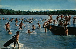 Swimming in Lake Spenard