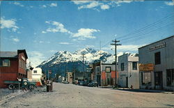 Main Street of Valdez, Alaska Postcard