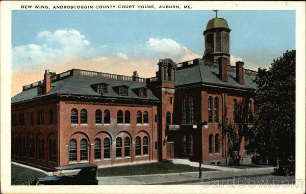 New Wing, Androscoggin County Court House Auburn Maine