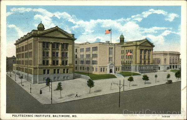 Bird's Eye View of Polytechnic Institute Baltimore Maryland