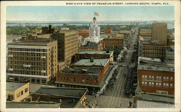 Bird-s Eye View of Franklin Street, Looking South Tampa Florida