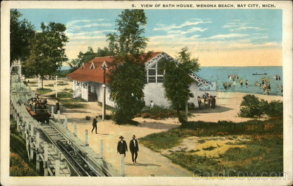 wenona beach bath house bay city mi