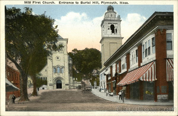 First Church, Entrance to Burial Hill, Plymouth, Mass Massachusetts