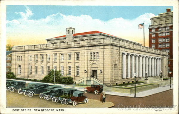 Post Office, New Bedford, Mass Massachusetts