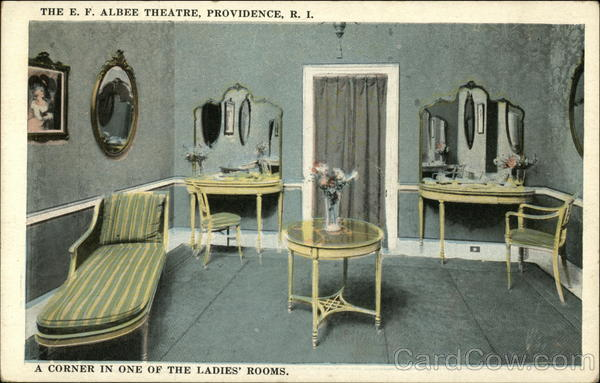 The E.F. Albee Theatre, A Corner in one of the Ladies' Rooms Providence Rhode Island