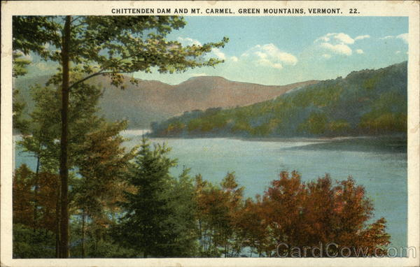 Chittenden Dam and Mt. Carmel, Green Mountains Vermont