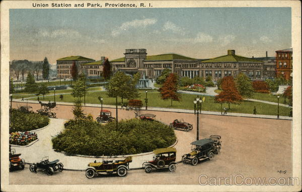 Union Station and Park Providence Rhode Island