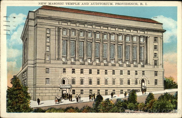 New Masonic Temple and Auditorium Providence Rhode Island