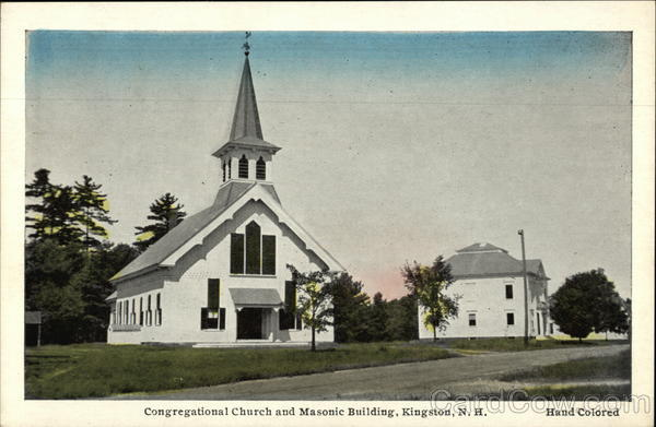 Congregational Church and Masonic Building Kingston New Hampshire