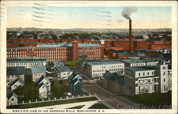 Bird's Eye View of the Amoskeag Mills Manchester New Hampshire