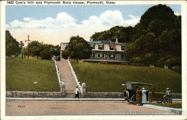 Cole's Hill and Plymouth Rock House Massachusetts