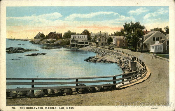 Water View from The Boulevard Marblehead Massachusetts
