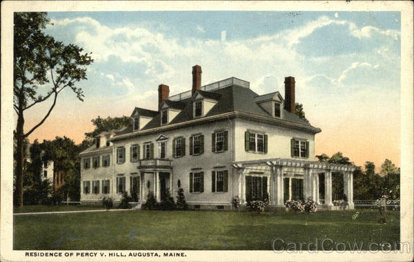 Residence of Percy V. Hill Augusta Maine