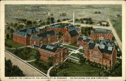 Plan of the Campus of the University of Dubuque