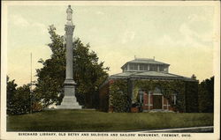 Birchard Library, Old Betsy and Soldiers and Sailors' Monument
