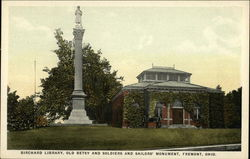 Birchard Library, Old Betsy and Soldiers & Sailors' Monument