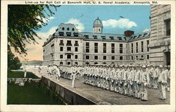 Line-up for Roll Call at Bancroft Hall, U.S. Naval Academy