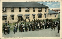 U.S. National Army Cantonment, Camp Devens, Future Soldiers Arriving at Camp