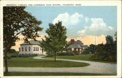 Memorial Library and Lawrence High School