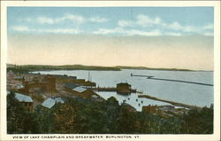 View of Lake Champlain and Breakwater