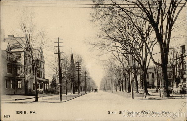 Sixth Street, Looking West From Park Erie Pennsylvania