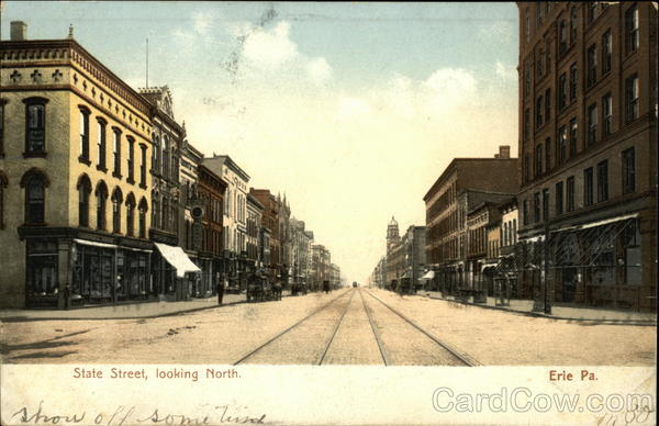 State Street, Looking North Erie Pennsylvania